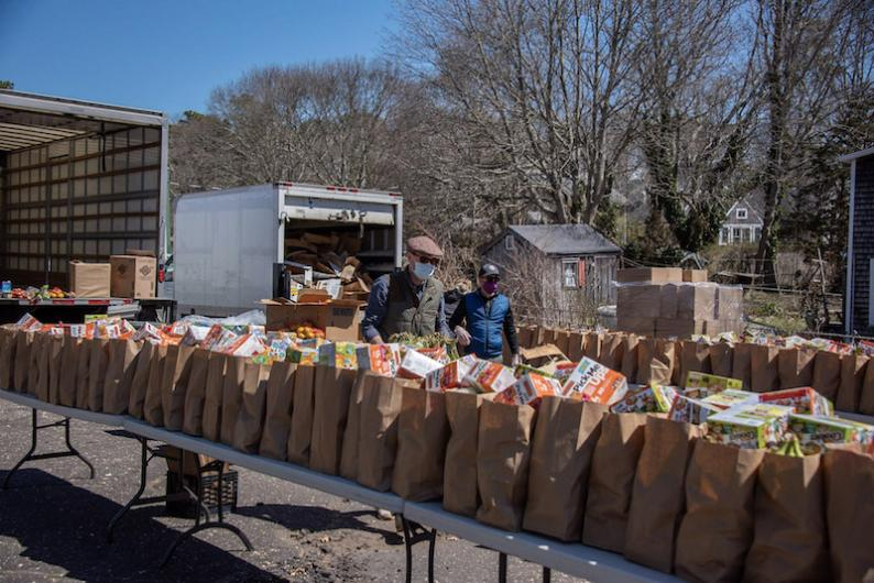 Good Shepard Parish distributing free food for Islanders.